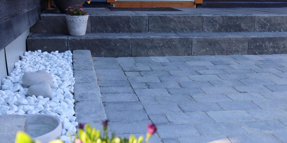 Granitt stein trapp og pynt-min