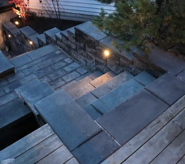 Splitblokk trapp og belysning-min