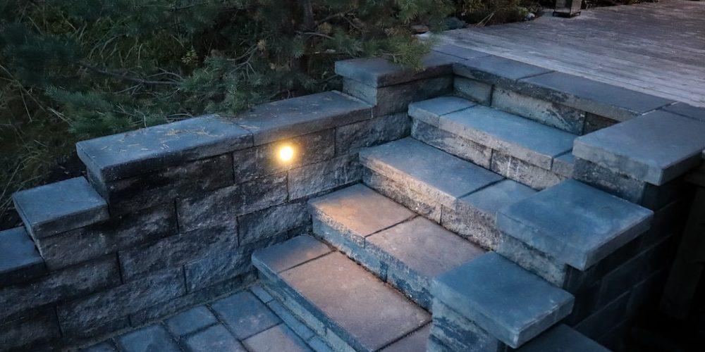 Splittblokk trapp og mur-min