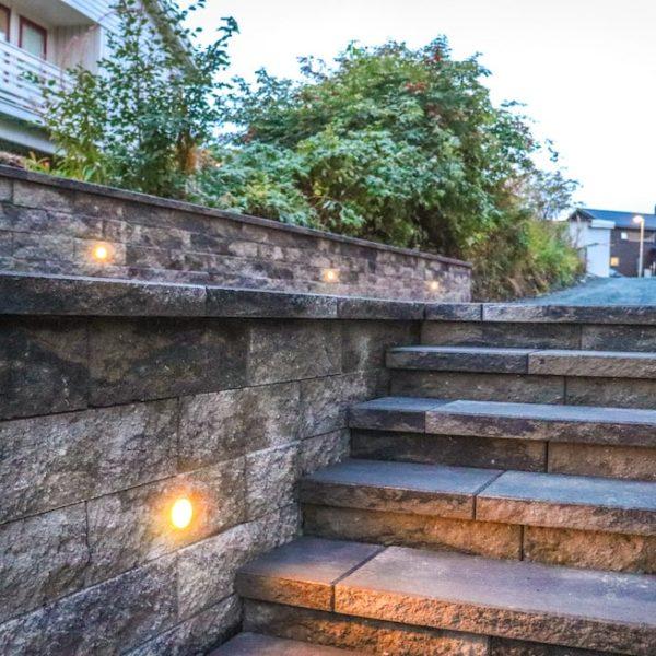 Splittblokk trapp og mur 0-min